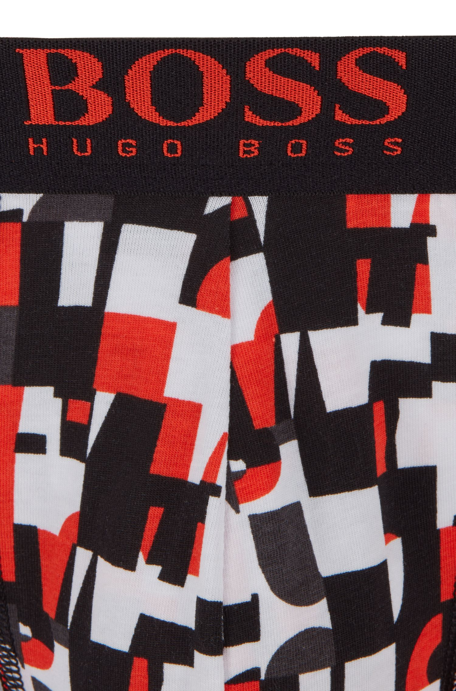 Boxershorts aus Stretch-Baumwolle mit Grafik-Print, Rot