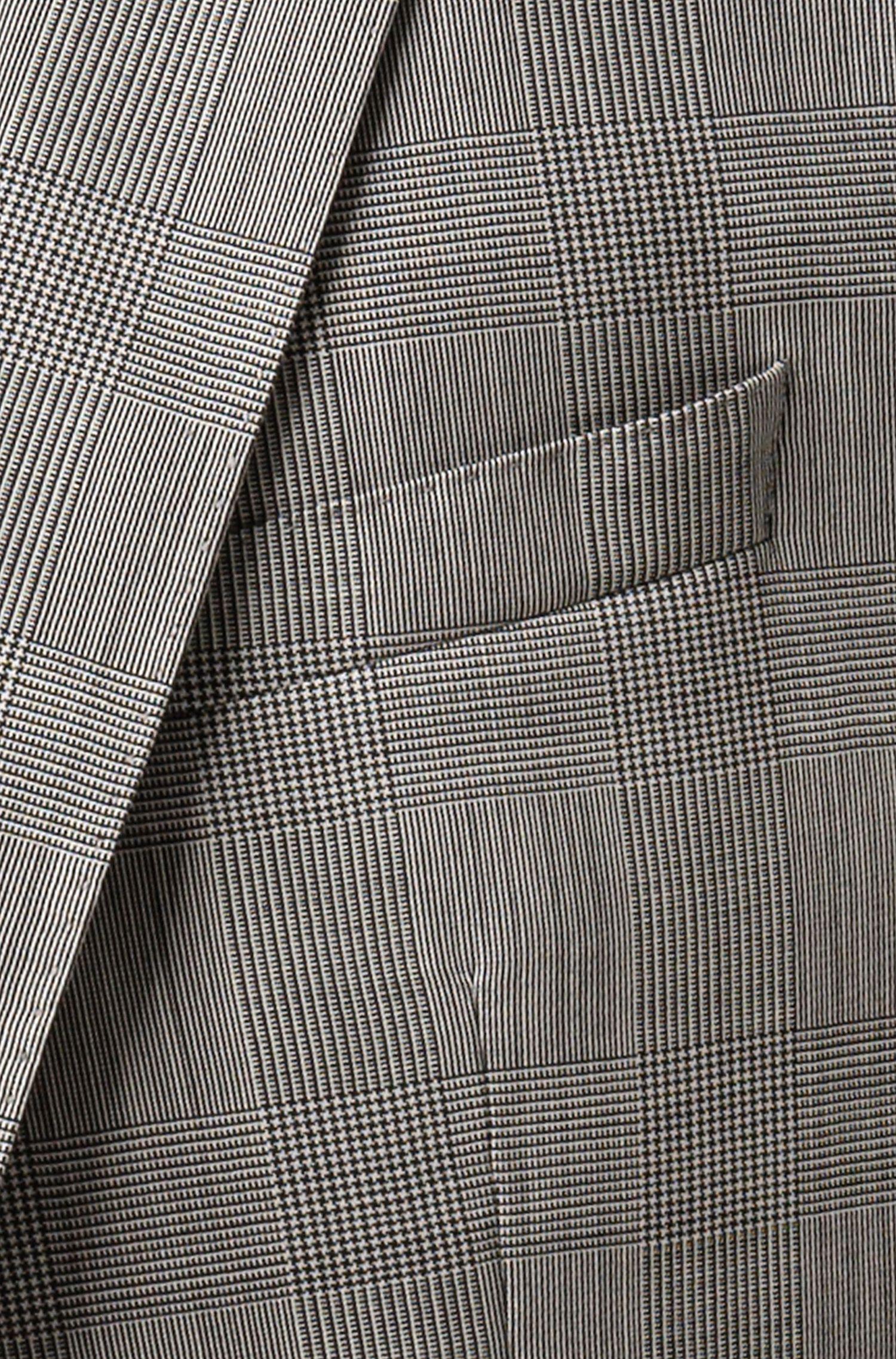 Abito slim fit in lana vergine a quadri realizzata in Italia, A disegni