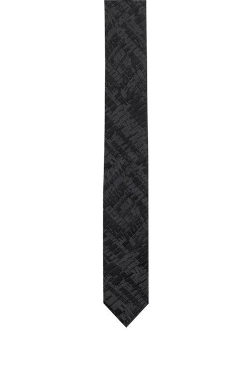 Hugo Boss - Silk tie with graphic jacquard motif - 1