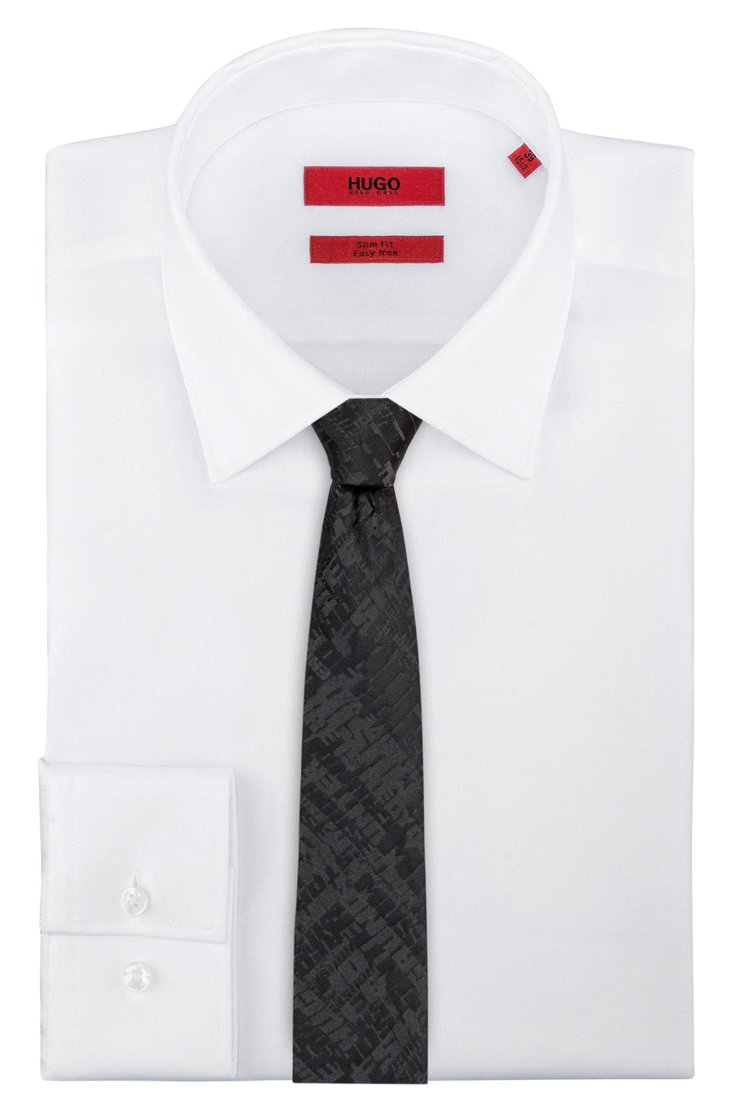 Hugo Boss - Corbata de seda con motivo gráfico en jacquard - 2