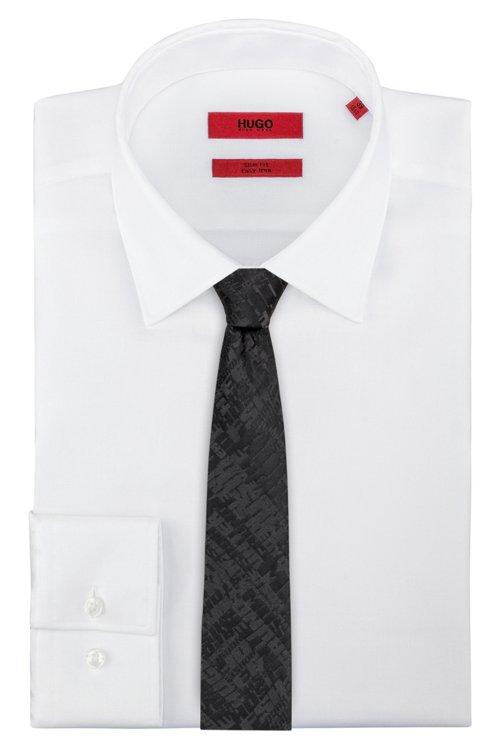 Hugo Boss - Silk tie with graphic jacquard motif - 2