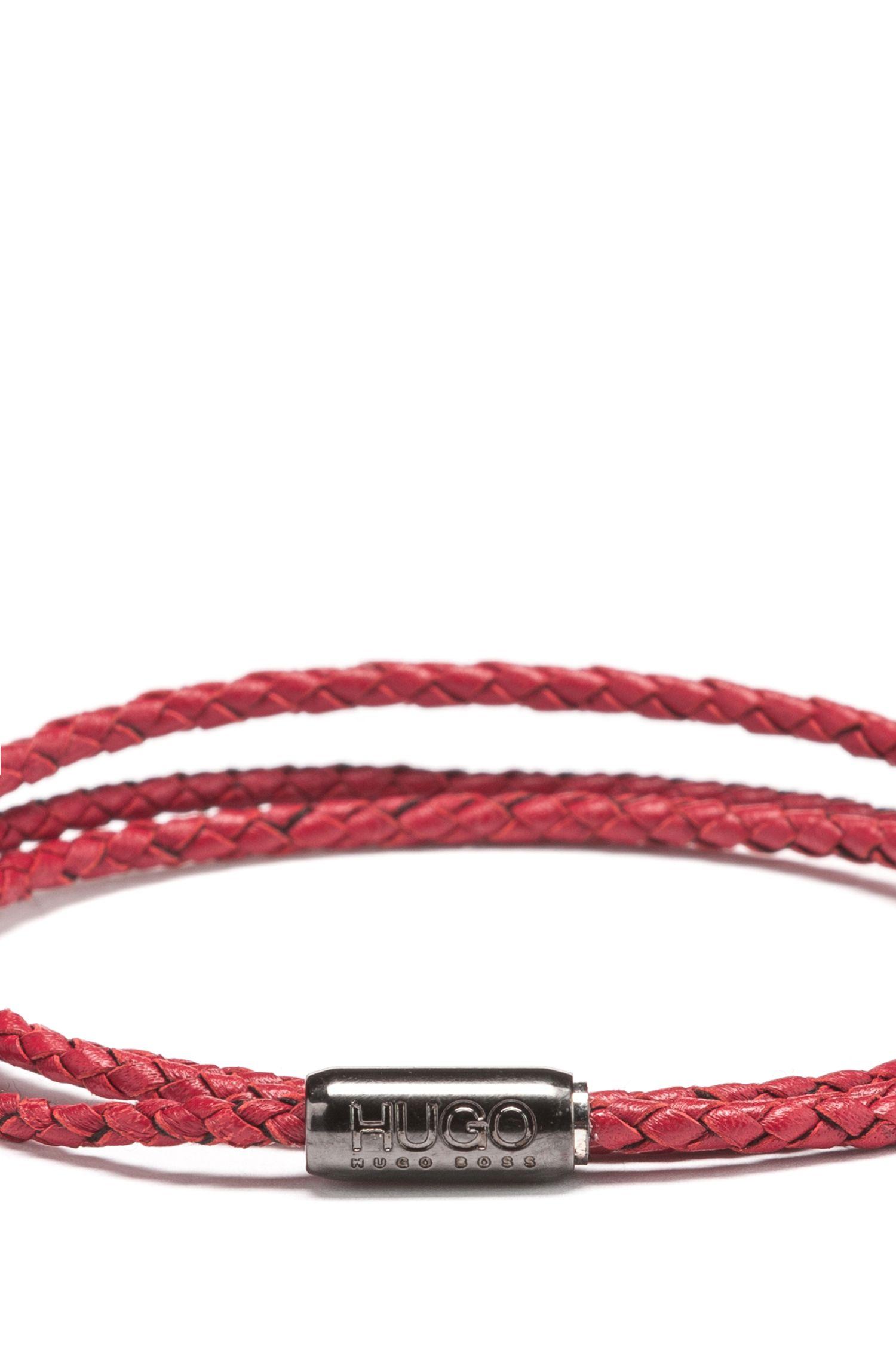 Hugo Boss - Geflochtenes Wickelarmband aus italienischem Leder - 3