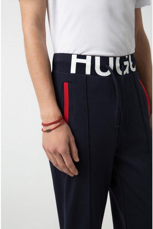 Hugo Boss - Pulsera de piel de becerro trenzada italiana - 2