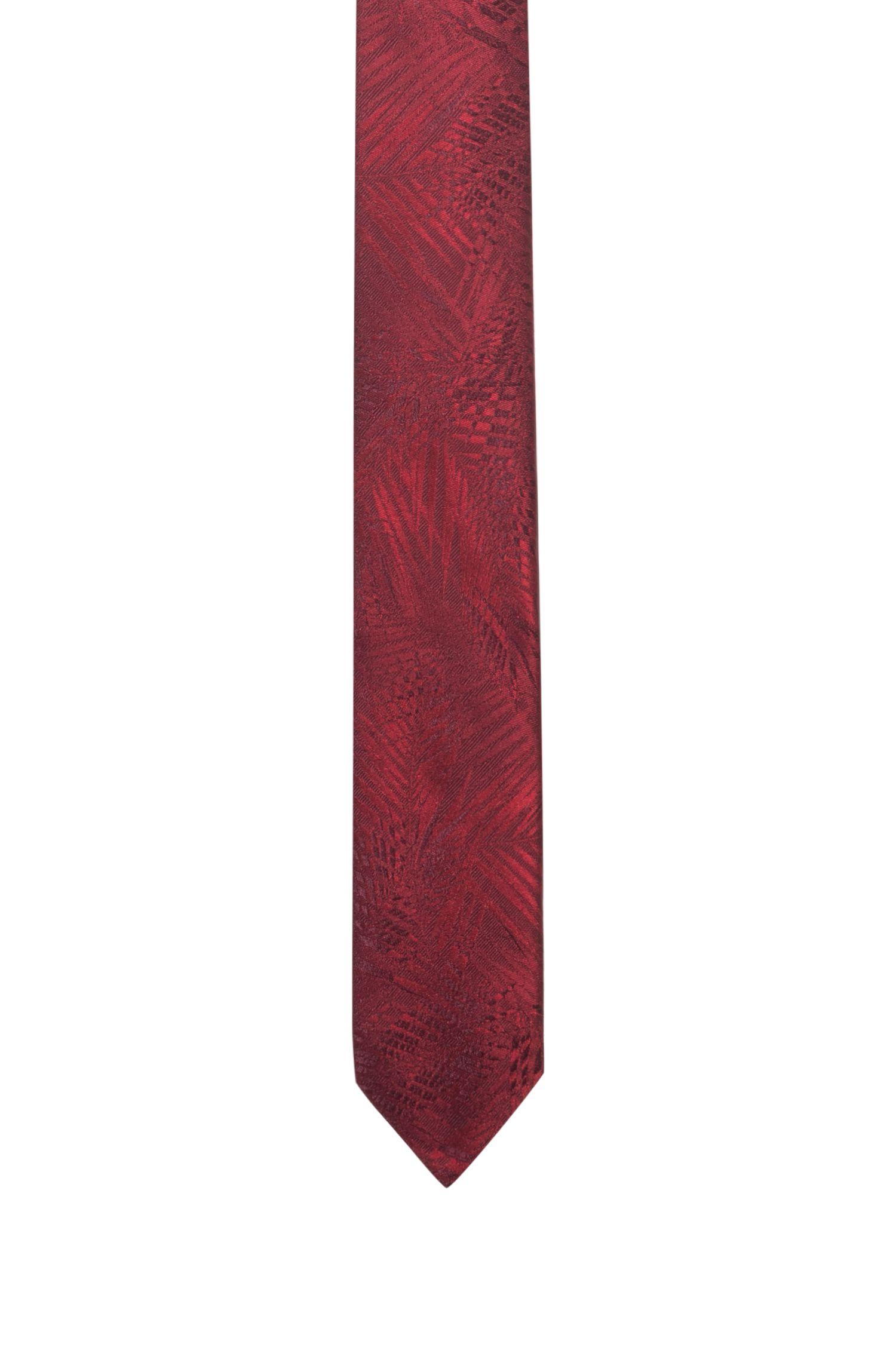 Gemusterte Krawatte aus reinem Seiden-Jacquard, Hellrosa