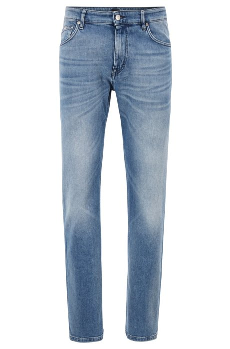 Relaxed-Fit Jeans aus elastischem BCI-Denim, Blau