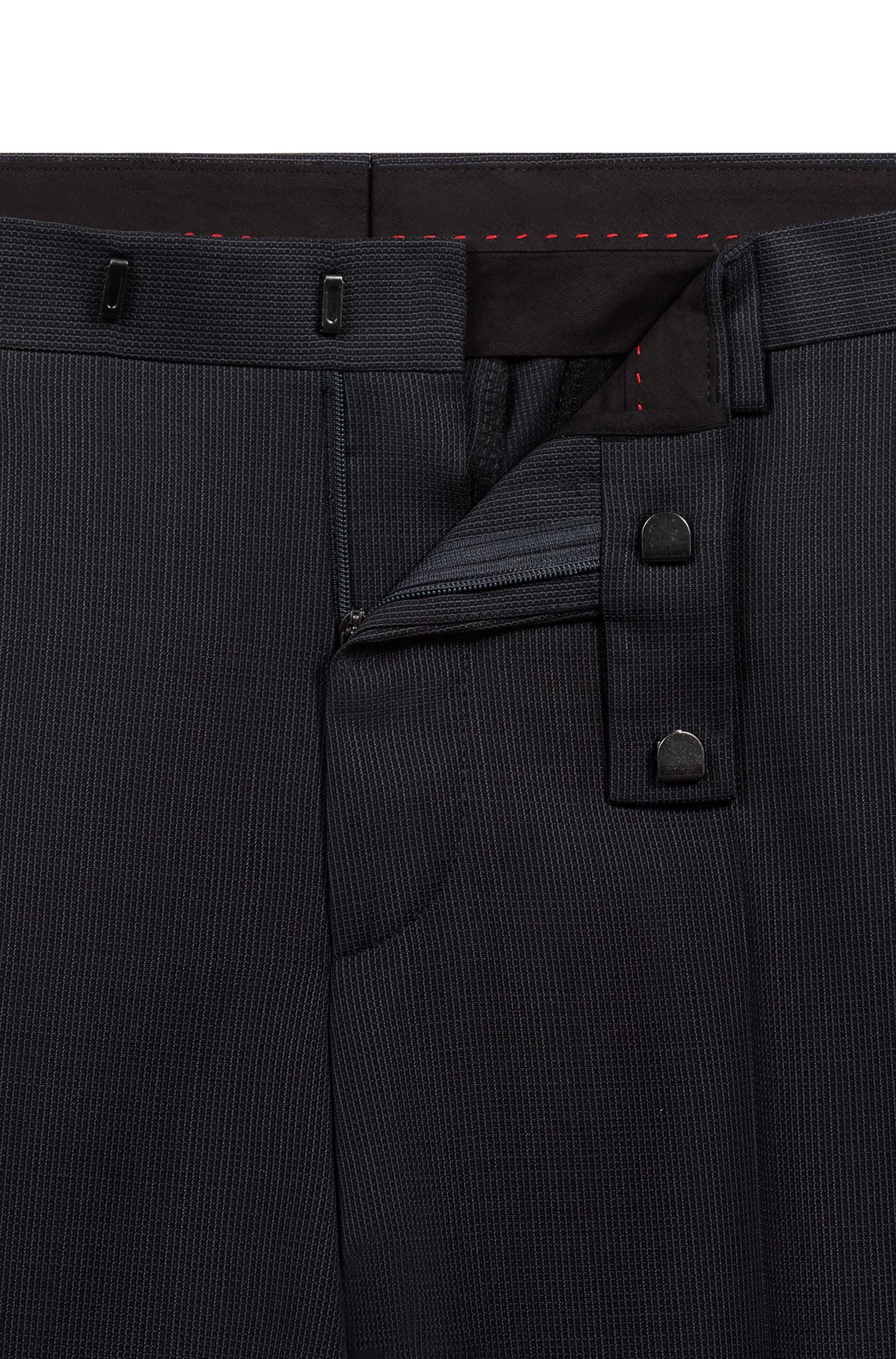 Regular-fit suit with a geometric micro pattern, Anthracite