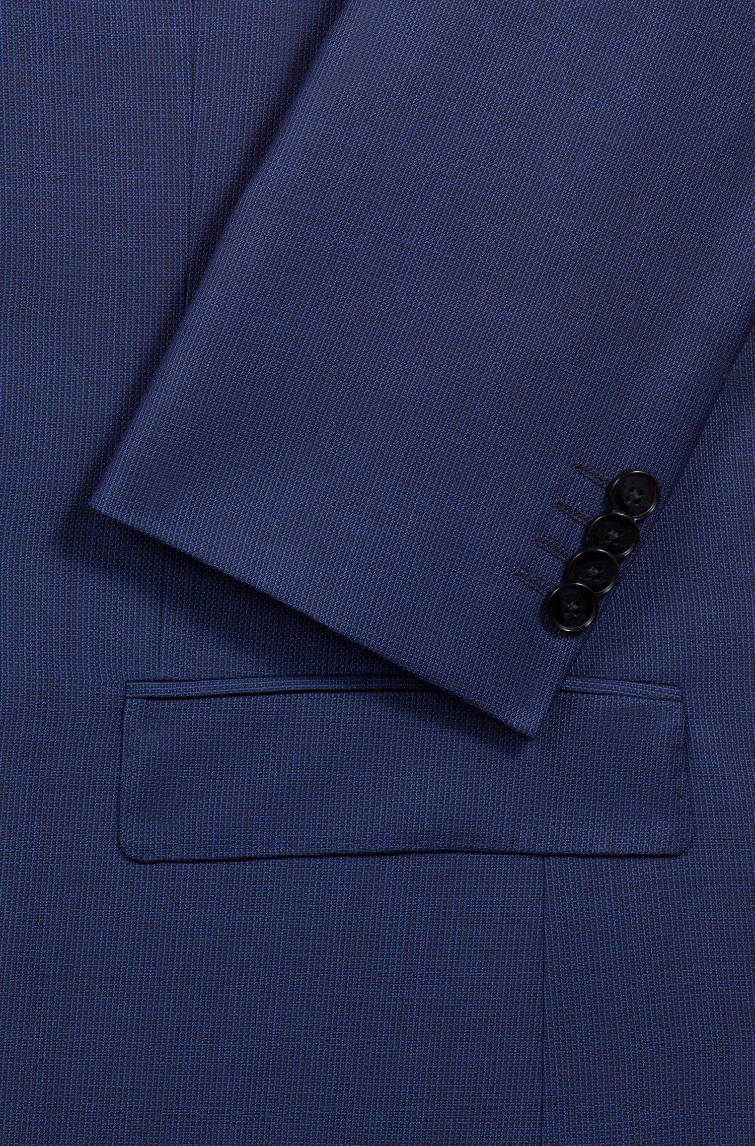 Traje regular fit con microestampado geométrico, Azul
