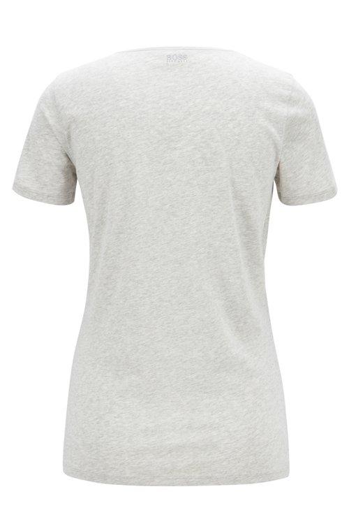 Hugo Boss - Camiseta en punto sencillo de algodón con logotipo estampado a cuadros - 3