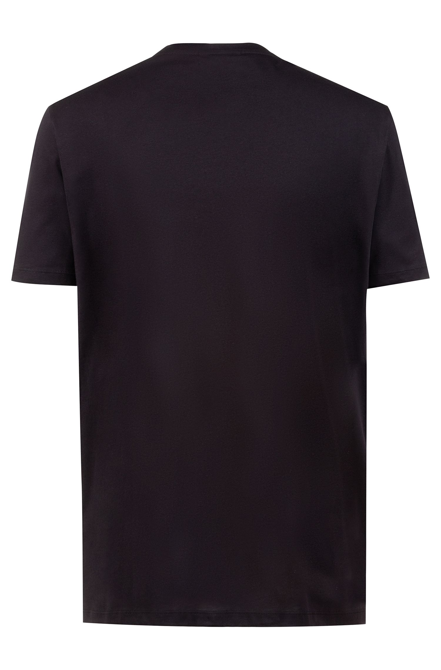 Relaxed-fit T-shirt with graphic logo-interpretation print, Black