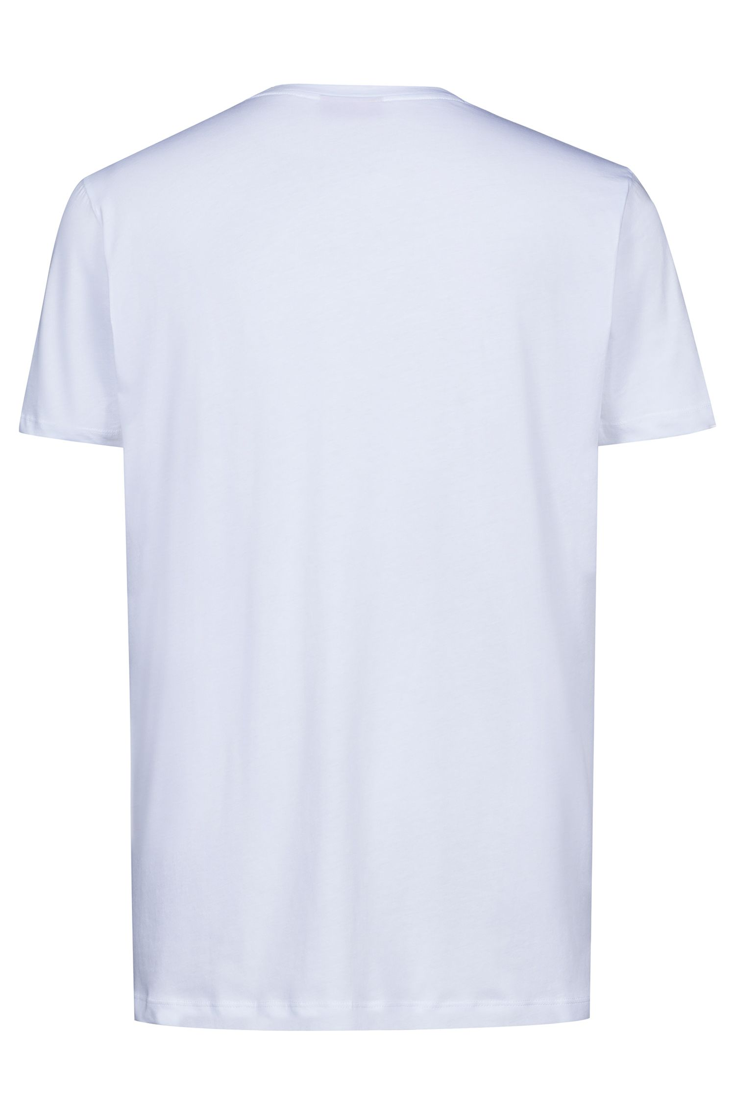 Hugo Boss - Relaxed-fit T-shirt with graphic logo-interpretation print - 4