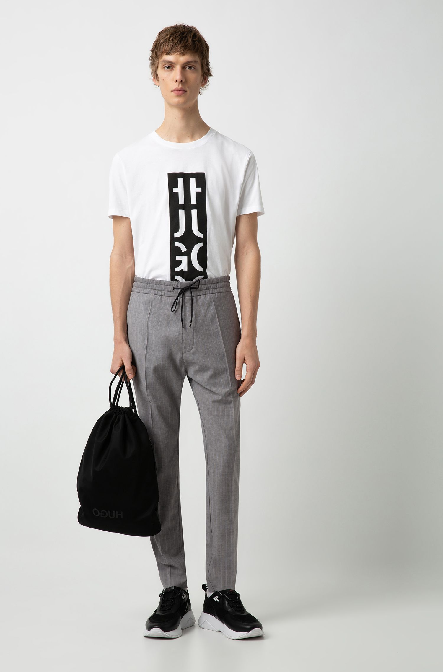 Hugo Boss - Relaxed-fit T-shirt with graphic logo-interpretation print - 2