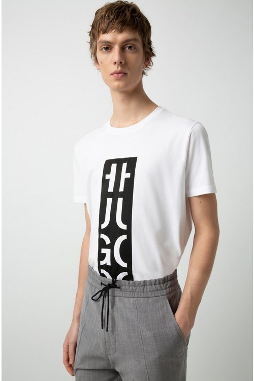 Hugo Boss - Relaxed-Fit T-Shirt mit Grafik-Logo - 3