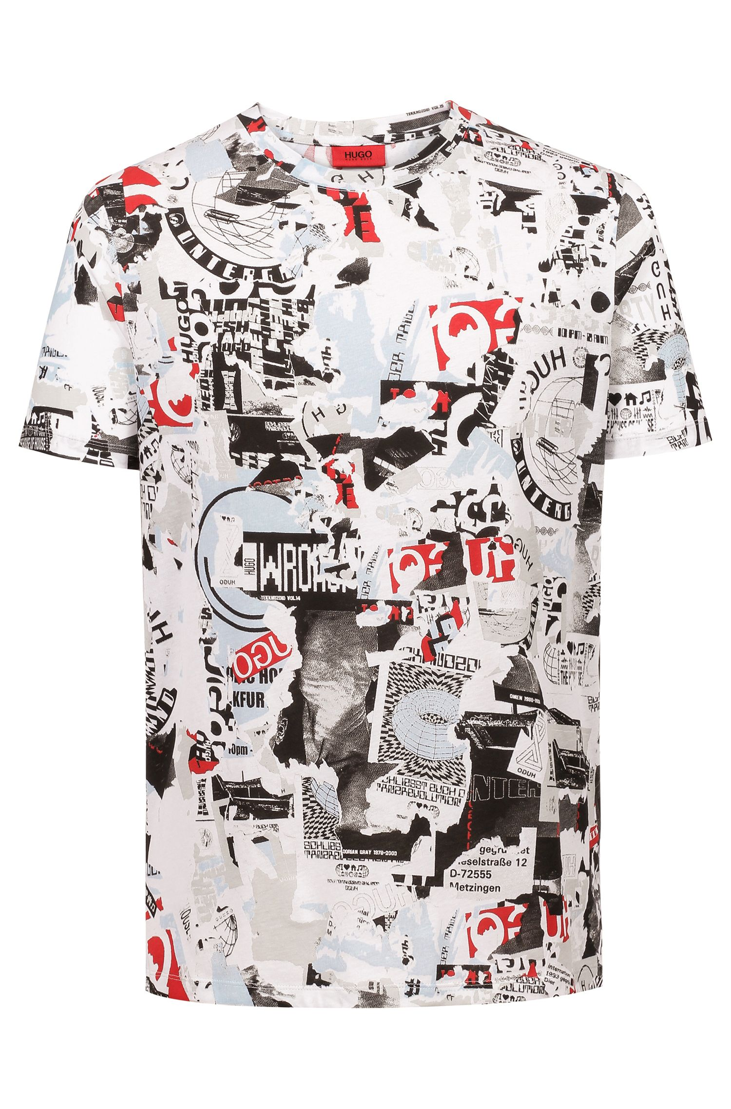 Regular-fit T-shirt with graphic print, Patterned