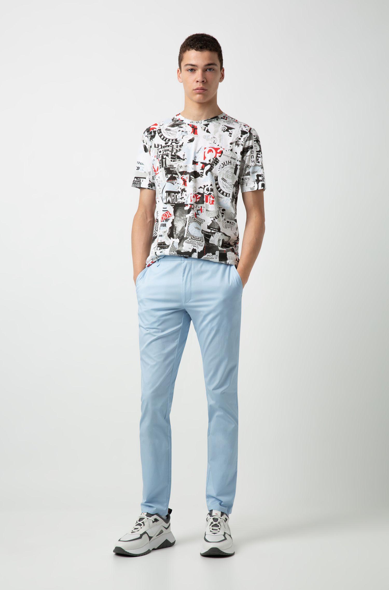 Regular-fit T-shirt met grafische print, Bedrukt