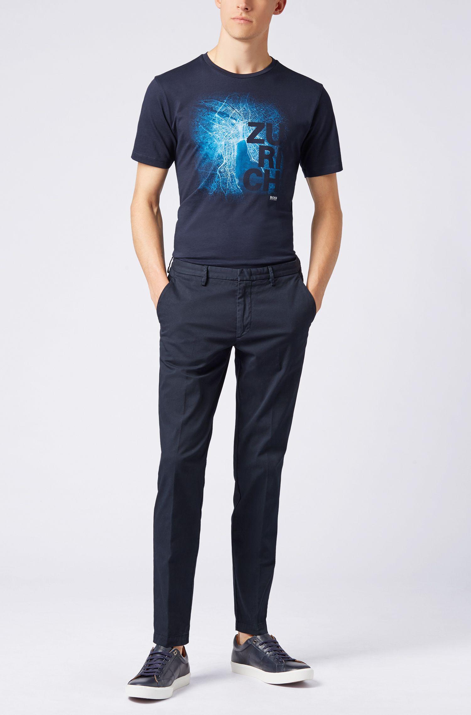 Limited Edition FormelE T-Shirt mit Zürich-Print, Blau
