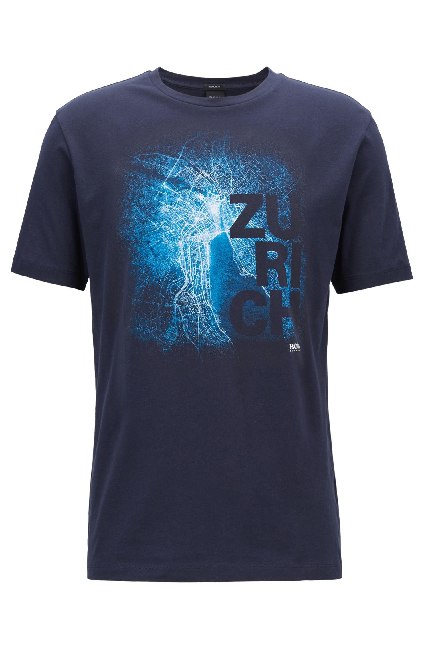 Camiseta de FórmulaE de edición limitada con estampado de la ciudad de Zúrich, Azul