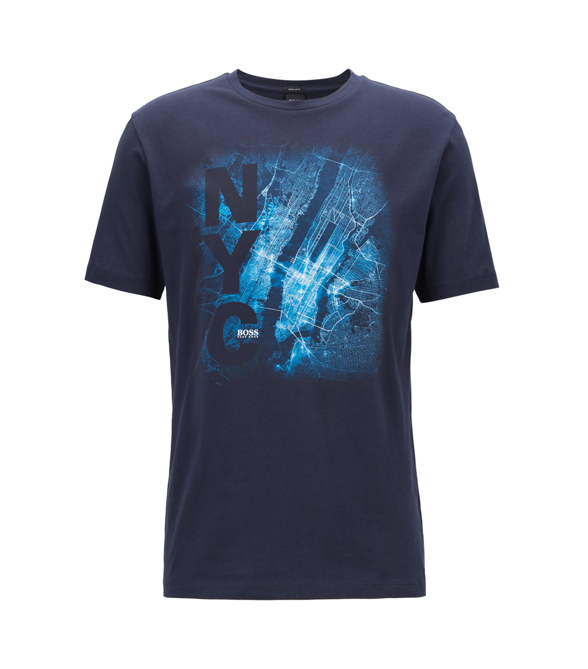 Limited Edition FormelE T-Shirt mit New York City Print, Dunkelblau
