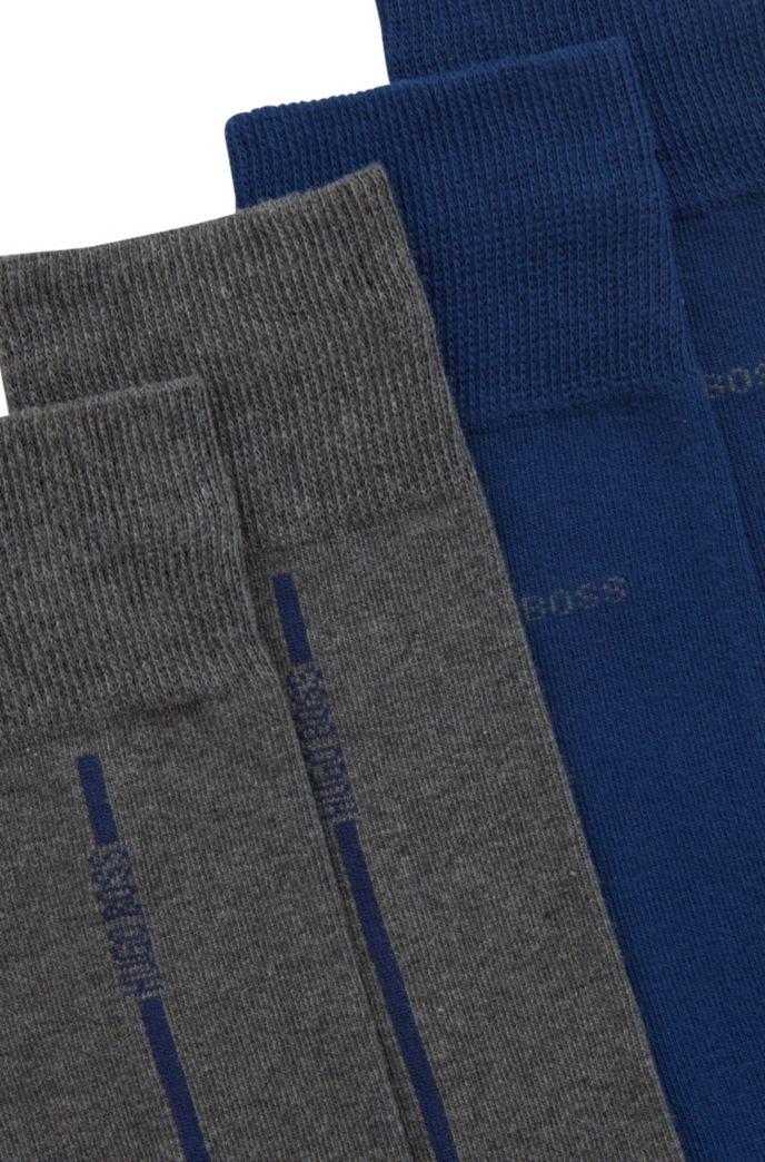 Lot de deux paires de chaussettes en coton stretch mélangé
