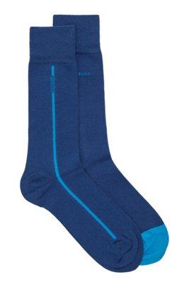 Set van twee paar sokken van een stretchkatoenmix, Lichtblauw