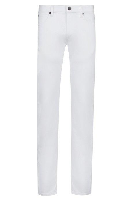 Jean Slim Fit en denim stretch blanc, Blanc