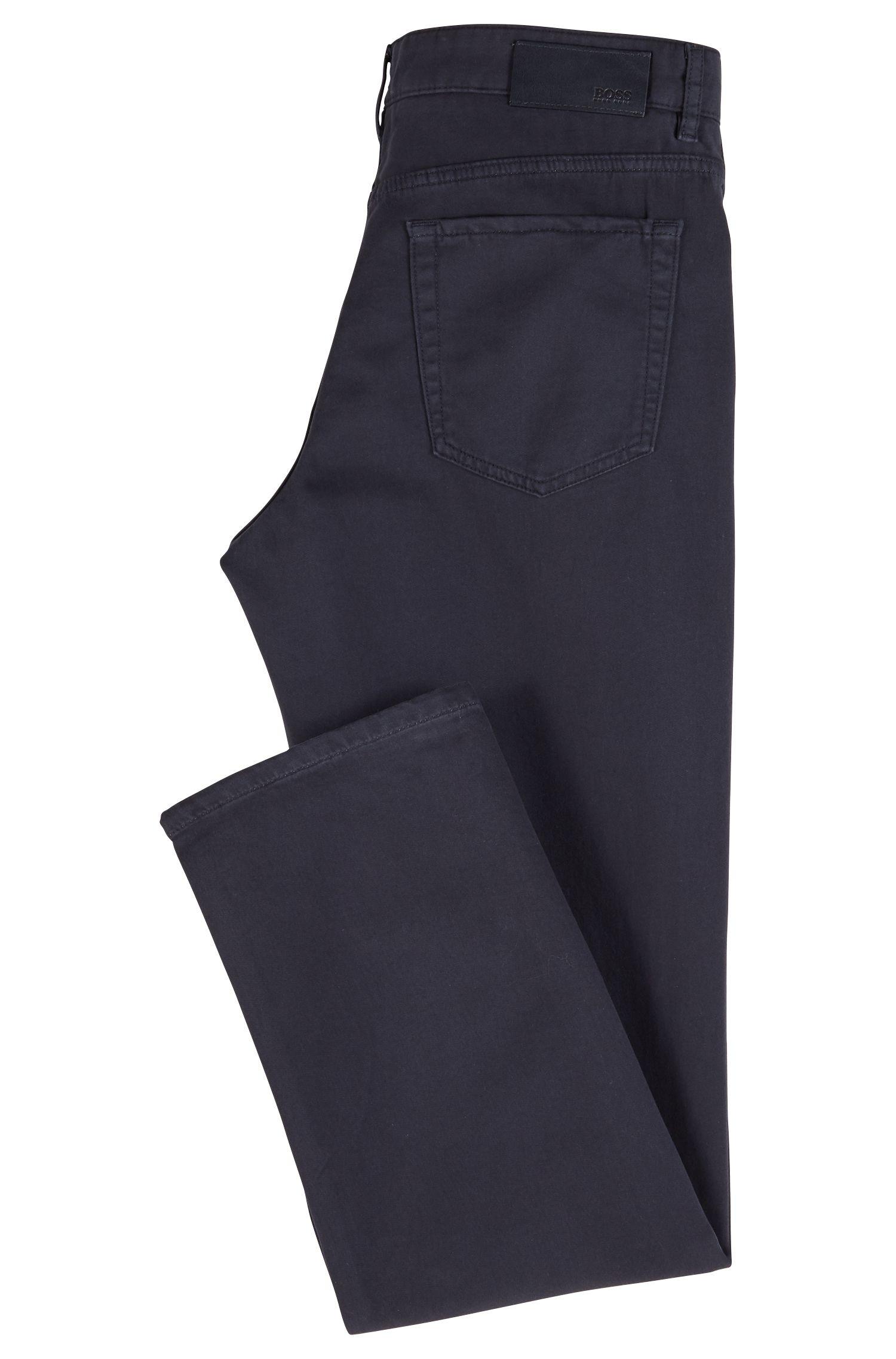 Regular-fit jeans van felblauw stretchdenim jersey, Donkerblauw