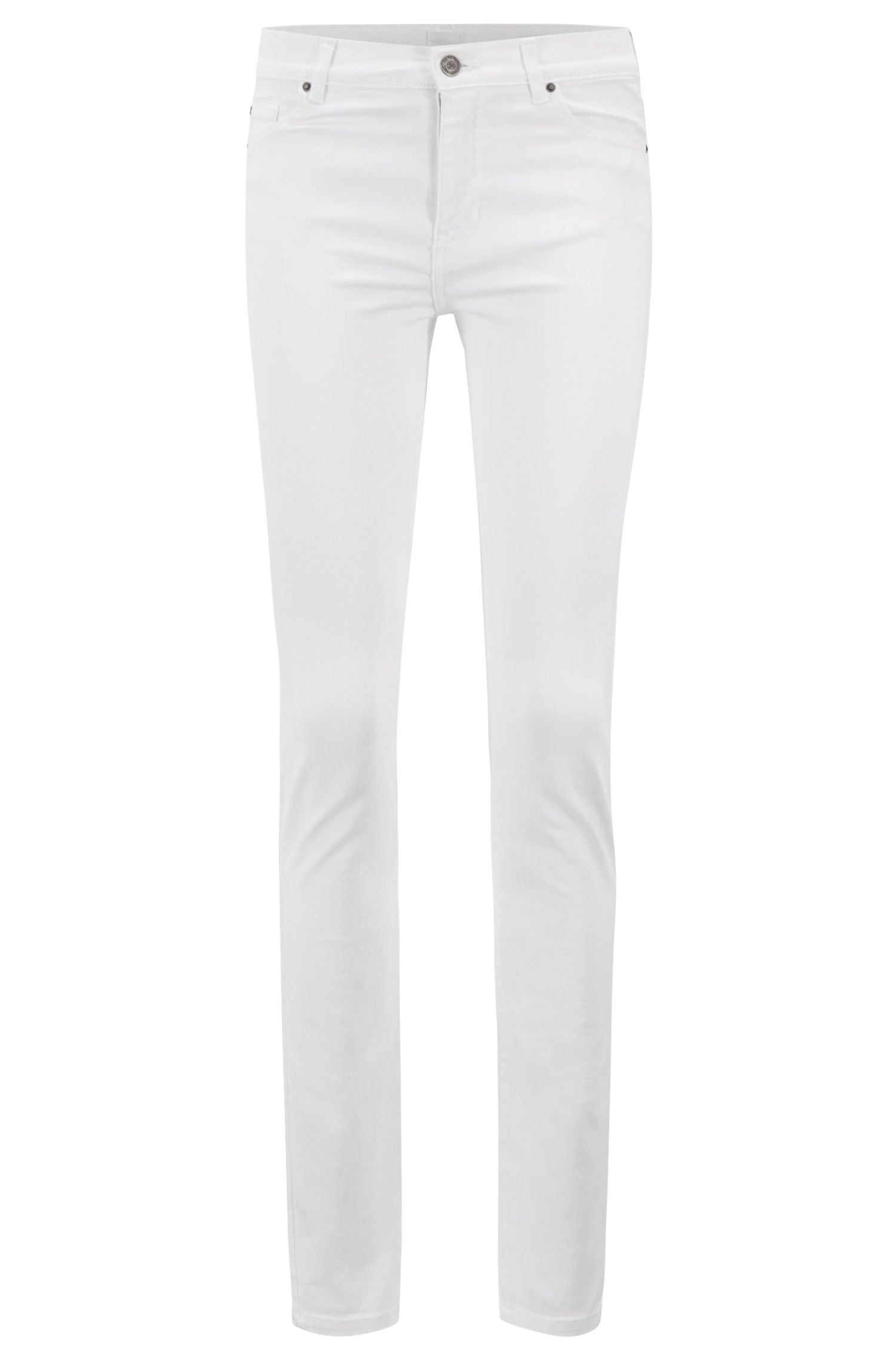 Slim-fit jeans in white comfort-stretch denim, White