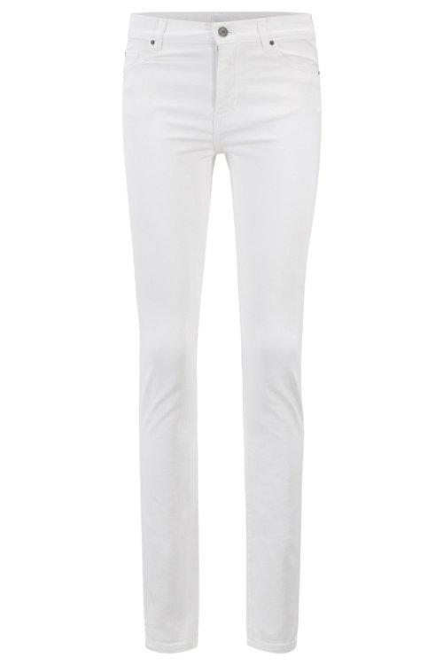Hugo Boss - Vaqueros blancos slim fit en denim elástico para mayor confort - 1