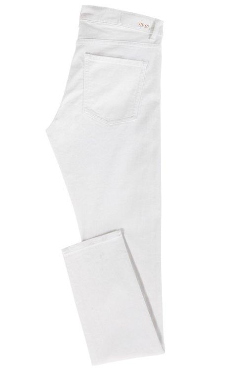 Hugo Boss - Vaqueros blancos slim fit en denim elástico para mayor confort - 4
