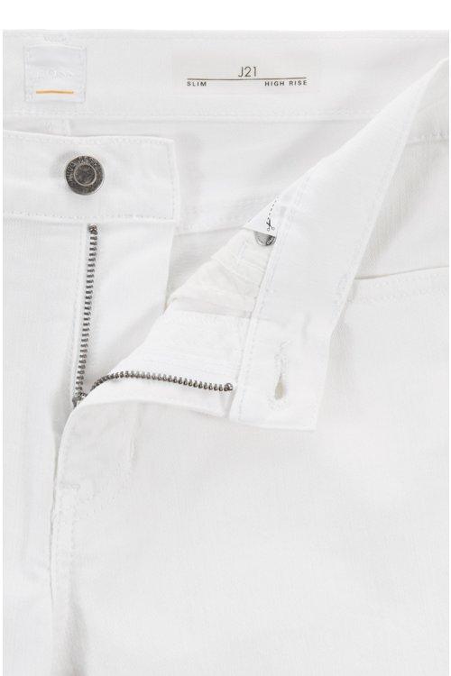 Hugo Boss - Vaqueros blancos slim fit en denim elástico para mayor confort - 5