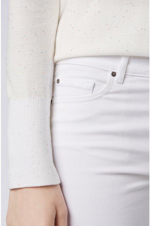 Hugo Boss - Vaqueros blancos slim fit en denim elástico para mayor confort - 3