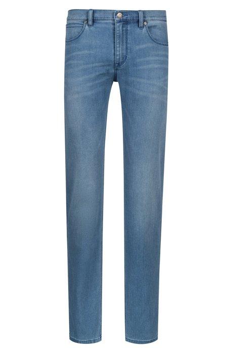Jeans slim fit in denim elasticizzato blu medio, Blu