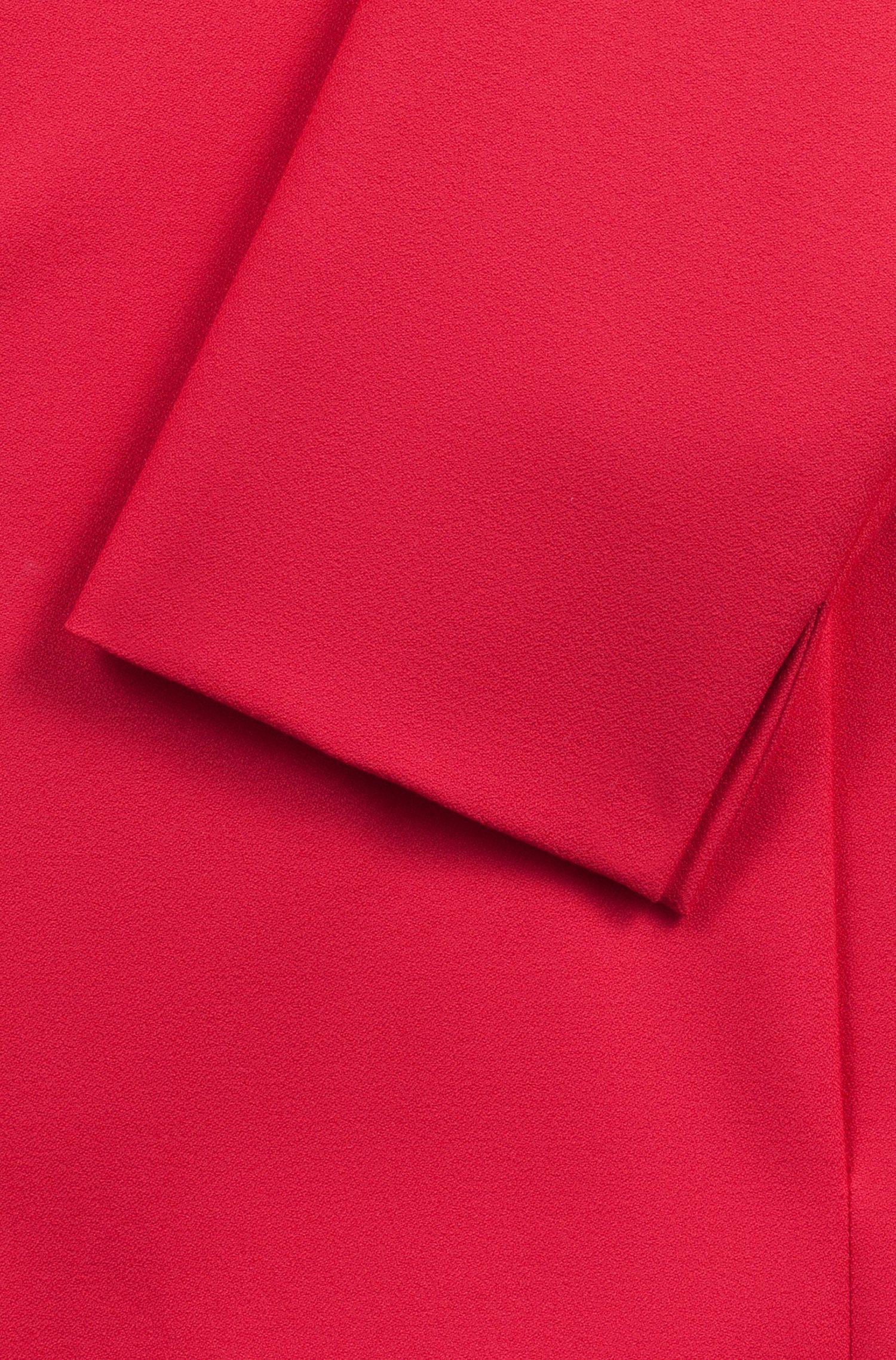 Chaqueta relaxed fit en crepé elástico con lazo en la cintura, Pink