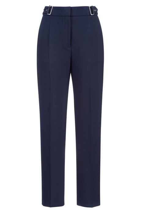 Regular-Fit Hose mit Schnallen, Blau