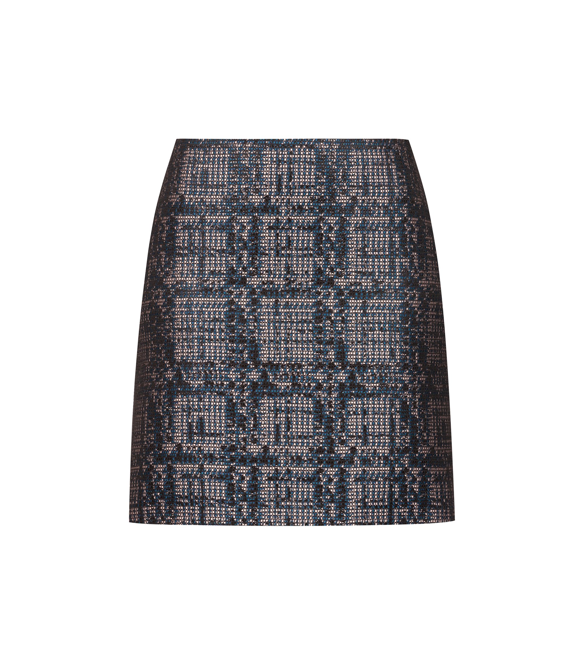 Slim-fit mini skirt in tweed with metallised accents, Fantaisie