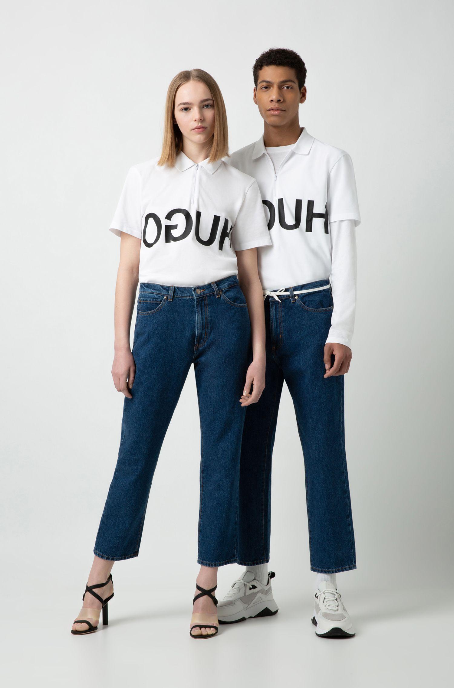 Vaqueros unisex regular fit en denim azul oscuro, Azul