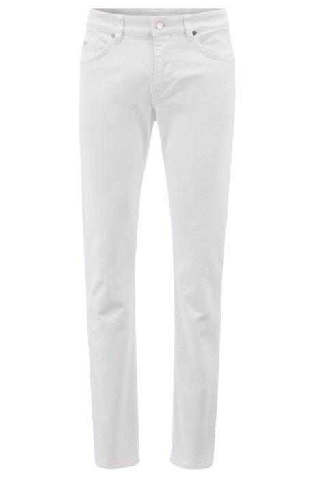 Slim-fit jeans in BCI stretch denim, White