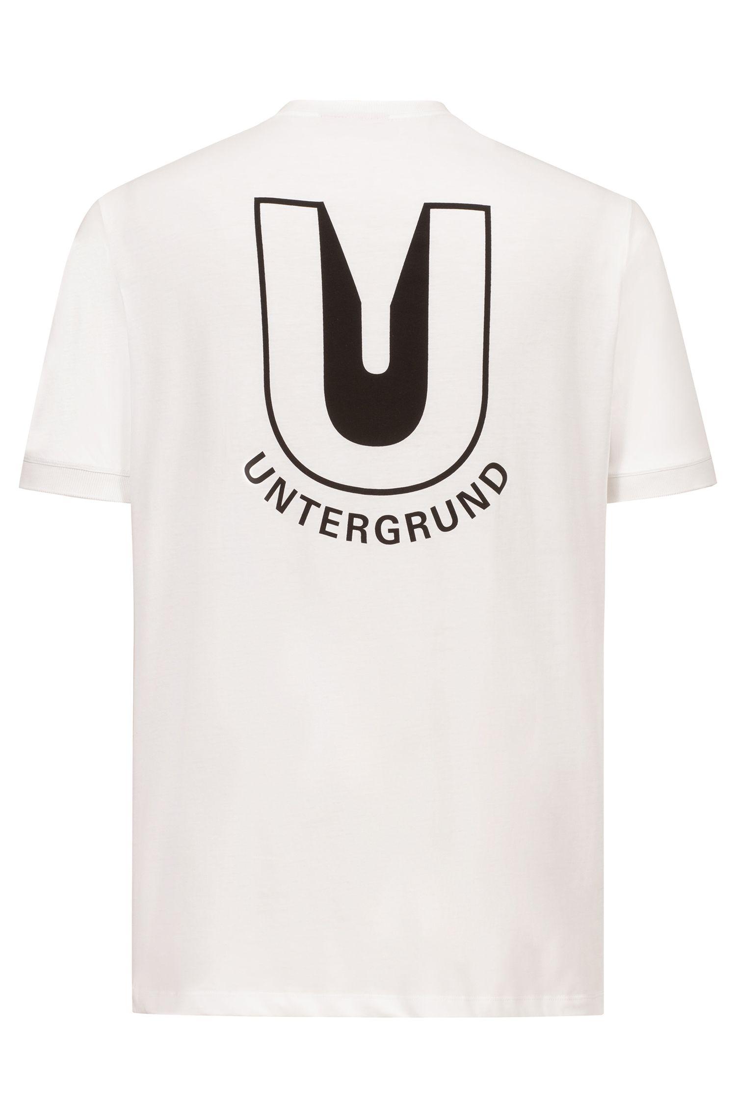 Relaxed-Fit T-Shirt mit Print der Saison auf der Rückseite, Weiß