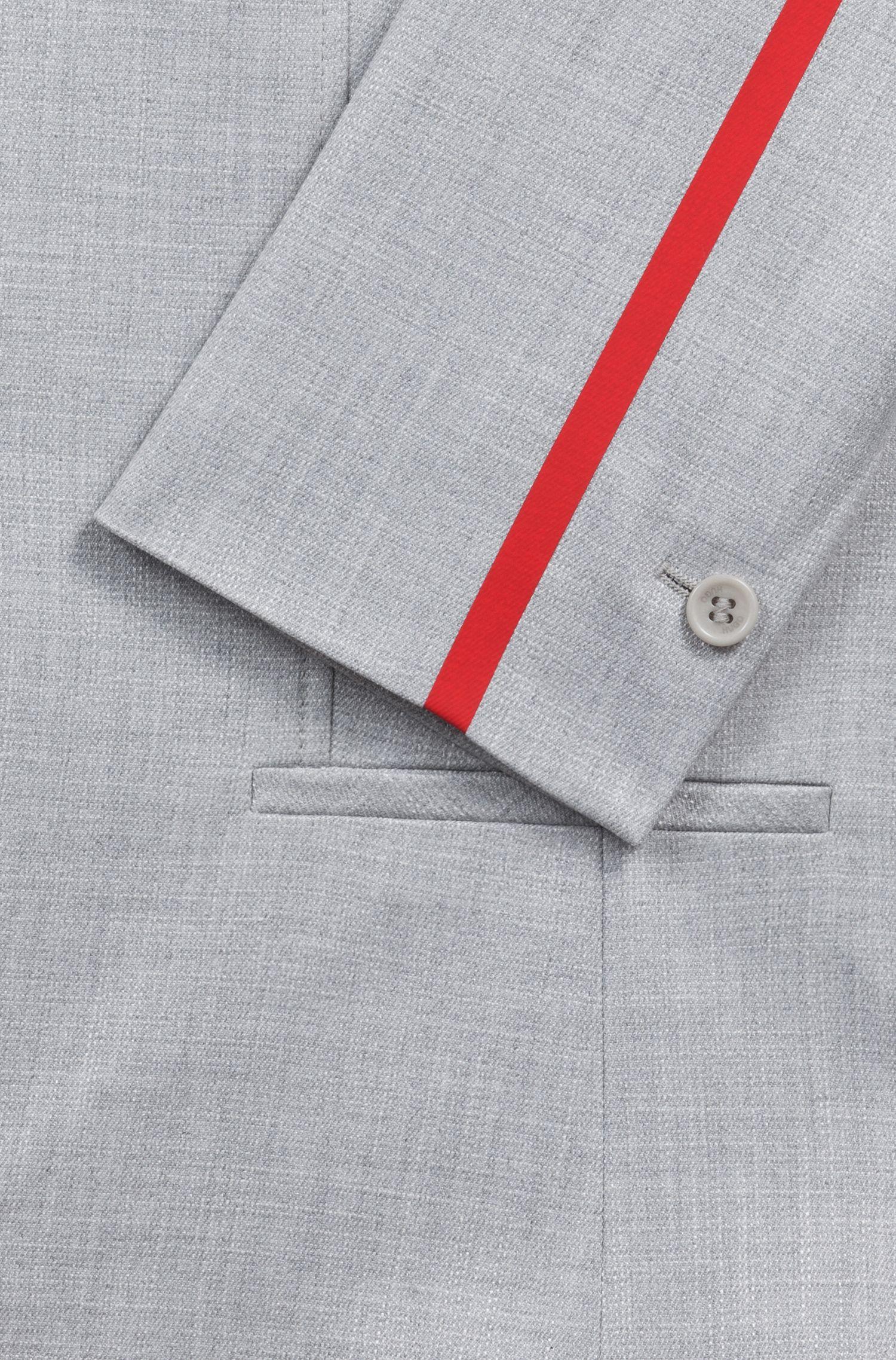 Giacca regular fit con nastro sulle maniche a contrasto, A disegni