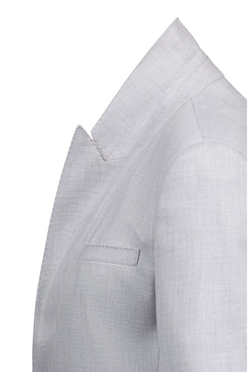 Hugo Boss - Double-breasted relaxed-fit jacket with tie belt - 5