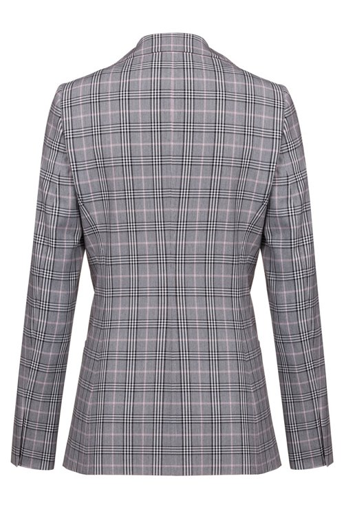 Hugo Boss - Regular-fit checked jacket with two-way front zip - 4