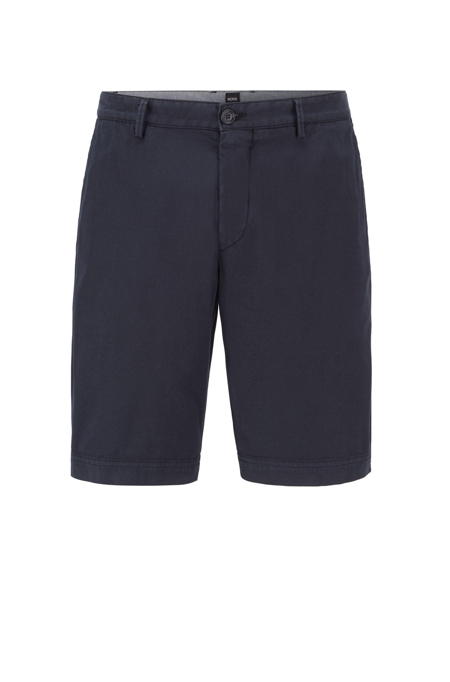 Slim-Fit Shorts aus Stretch-Baumwolle, Dunkelblau