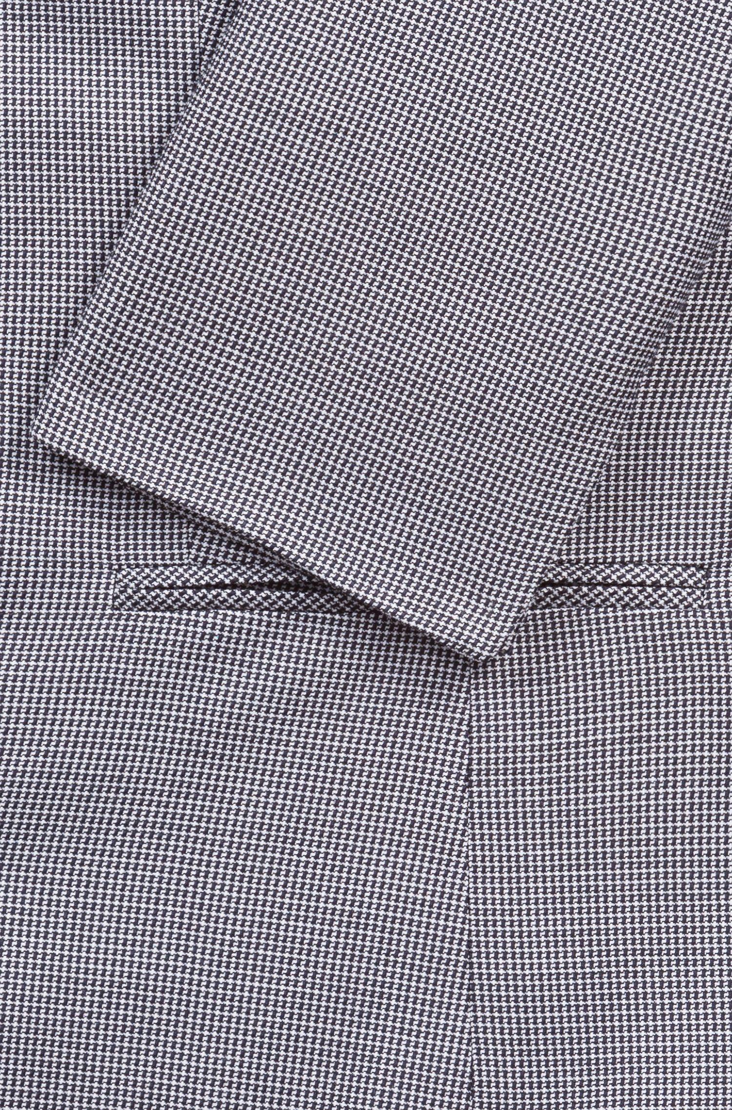 Veste 1bouton en tissu stretch à motif, Fantaisie