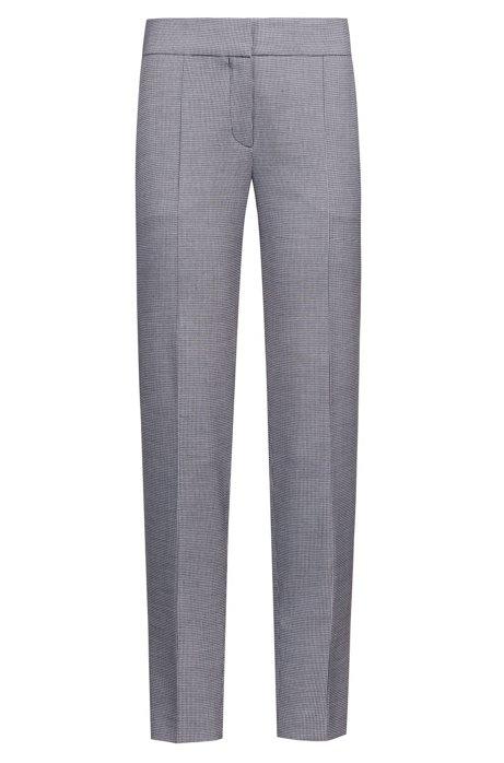 6b06c60cc793 HUGO - Pantalon court Slim Fit en tissu stretch à motif