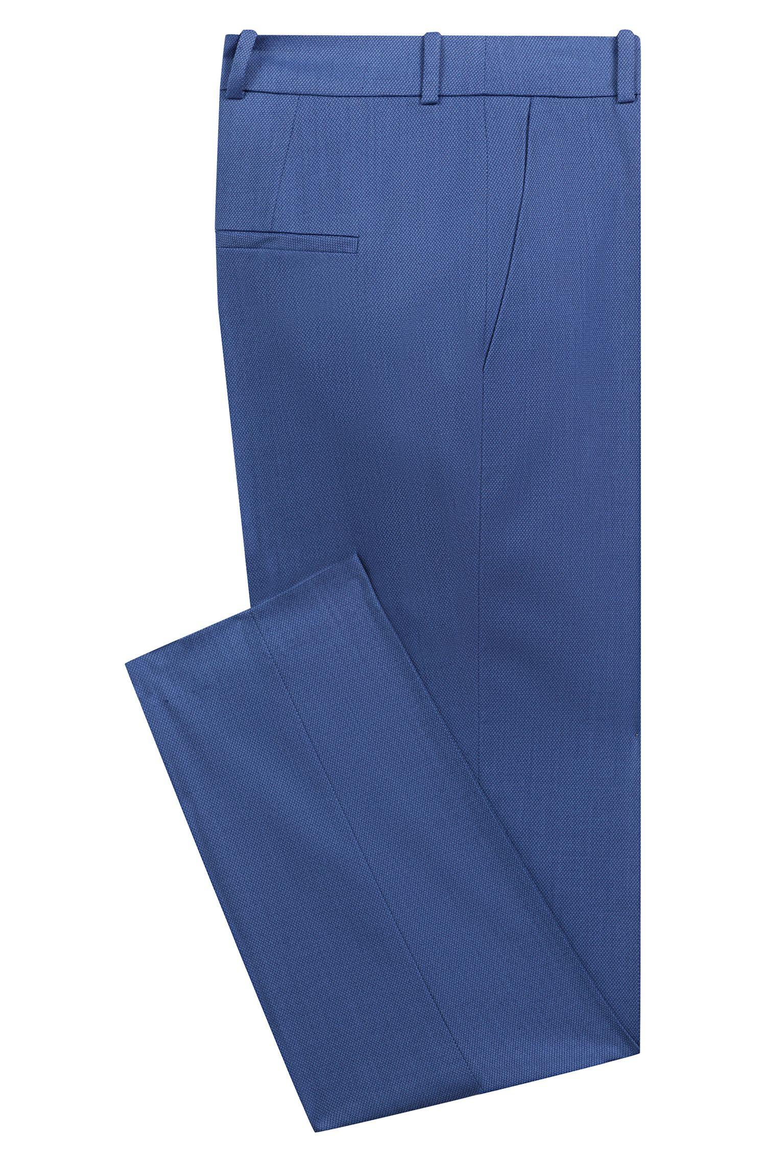 Regular-Fit Zigarettenhose in Cropped-Länge aus gemustertem Stretch-Gewebe, Gemustert