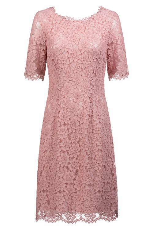 Hugo Boss - Lace A-line dress with V-cut back and exposed zip - 1