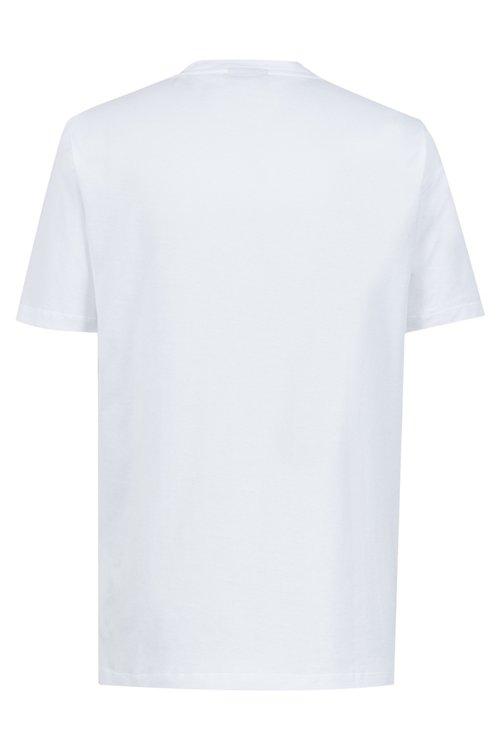 Hugo Boss - T-Shirt aus Baumwolle mit tonalem Reversed-Logo und Rundhalsausschnitt - 4