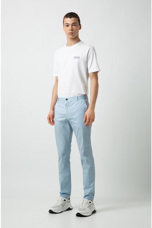 Hugo Boss - Camiseta de algodón con cuello redondo y logo tonal invertido - 2
