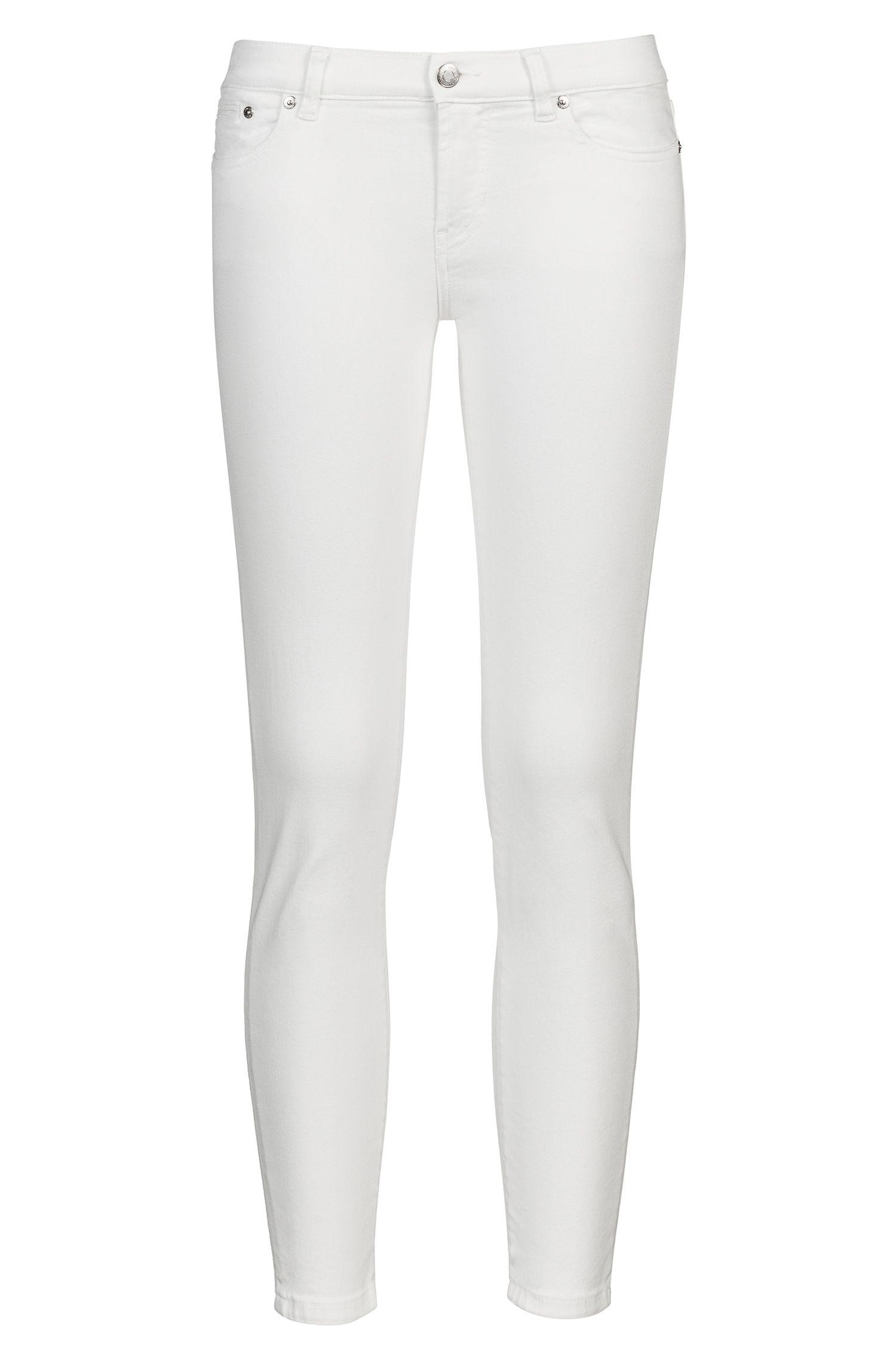 Hugo Boss - Skinny-Fit Jeans mit Reißverschlüssen hinten am Saum - 1