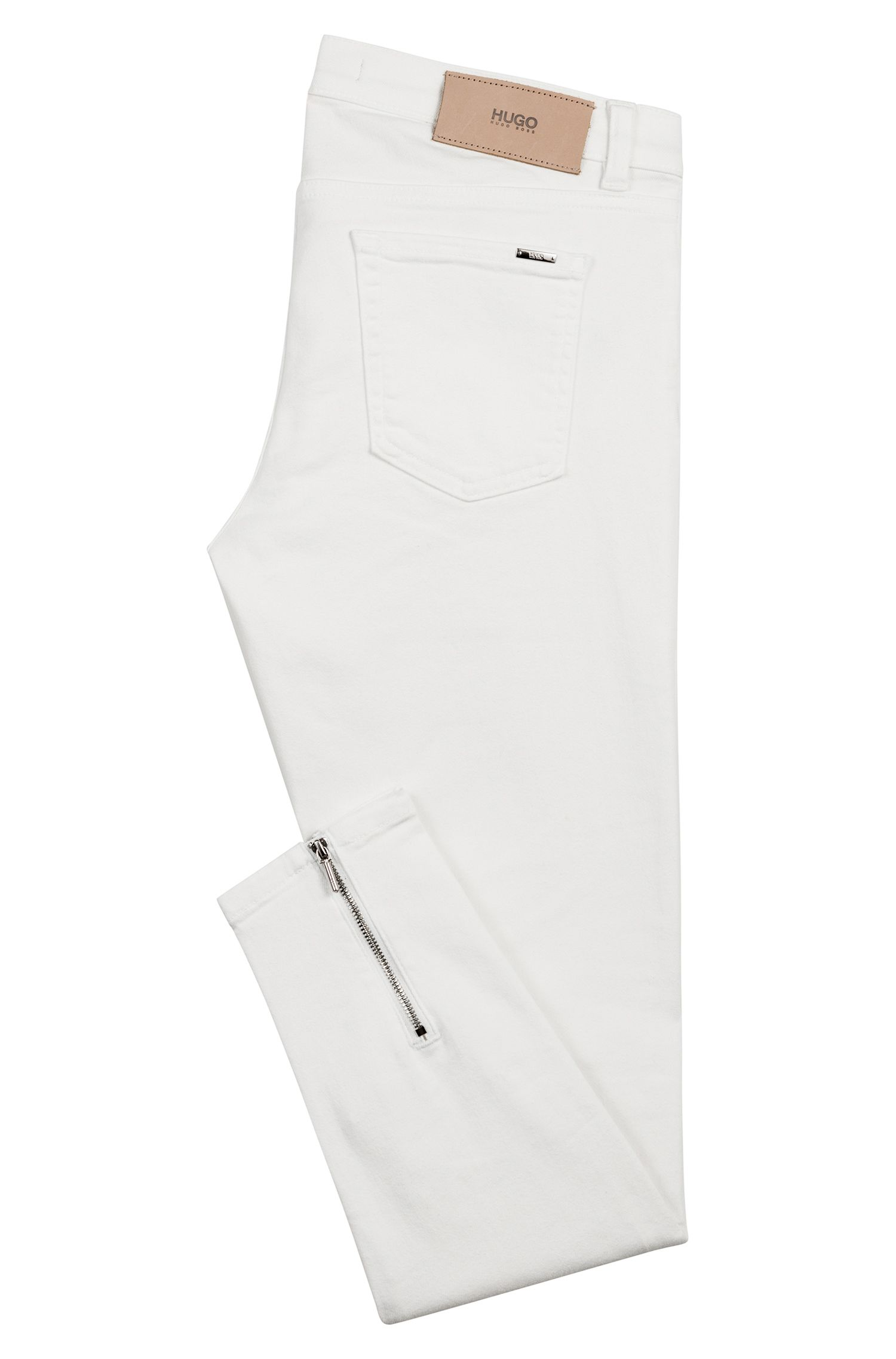 Hugo Boss - Skinny-Fit Jeans mit Reißverschlüssen hinten am Saum - 4