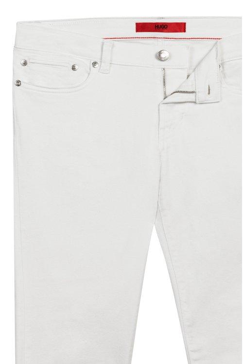 Hugo Boss - Skinny-Fit Jeans mit Reißverschlüssen hinten am Saum - 5